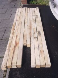 10 X LENGTHS OF RECLAIMED TIMBER FOR SALE . COULD DELIVER.