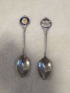 (2) old Hawaii Silver-plated SPOONS