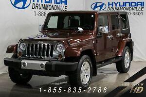 Jeep Wrangler 2008 + SAHARA + UNLIMITED + CUIR + A/C + HARDTOP +