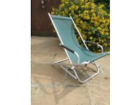 rocking garden lounger