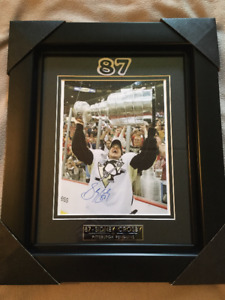 SIDNEY CROSBY PITTSBURGH PENGUINS CADRE HOCKEY NEUF SIGNÉ