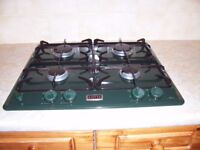 STOVES Green - Double Oven and 4 Ring Gas Hob