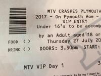 MTV VIP tickets x 2 Day 1