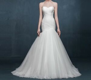 Sweetheart Neckline Trumpet Mermaid Wedding Gown 32-36 Bust