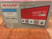 "32""SHARP LED SMART WIRELESS HDTV+FREEVEIW"