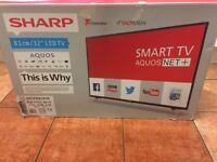 "32""SHARP LED SMART WIRELESS HDTV+FREEVEIW"