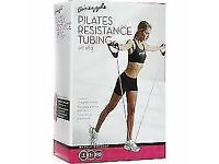 Pineapple Pilates Resistance Tubing Bands with Handles: Brand New
