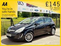 VAUXHALL CORSA 1.2 DESIGN AC ECOFLEX S/S 5d 83 BHP Been Refused C (black) 2014