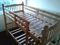 Solid Oak Bunk Bed - FOR SALE