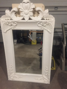 Stunning White Bevel Mirror in Antique style