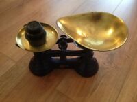 Vintage Librasco Black Cast Iron Kitchen Weighing Scales.