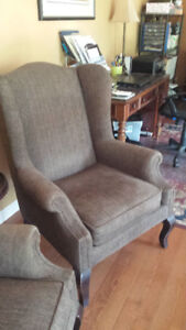 Wing Chairs (set of 2) and small table