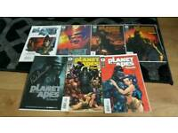 PLANET OF THE APES COMIC BOOK SET.signed and variants C.O.A S.