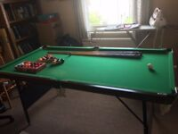 Jaques Pool table (used, 6ftx3ft)