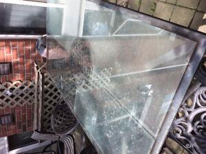 Metal glass top patio table