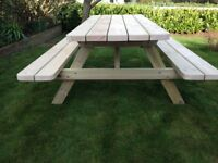 Picnic Bench - Hand Made Tanalised 5ft Picnic Bench