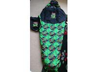 Outwell kids sleeping bag 2-3 season mummy style junior size with bag
