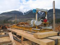 Portable Bandmill for Rent or Hire. Cedar Boards.
