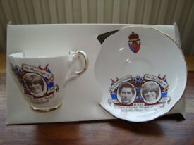 Charles and Diana Royal Wedding Cup&Saucer by Argyl China