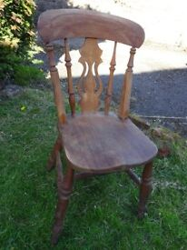 Two characterpine kitchen chairs