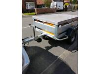 ERDE 143 TRAILER WITH COVER,SPARE WHEEL,JOCKEY WHEEL AND SHOCK ABSORBERS £400 NO OFFERS
