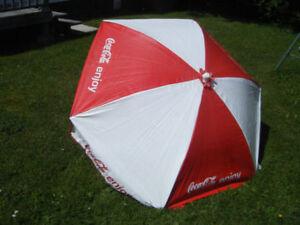 Vintage Collectible Coke Cola Patio Umbrella .. Truro..