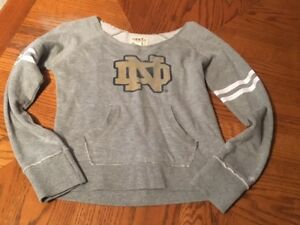 Girls youth Large Norte Dame sweatshirt