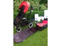 Bugaboo Buffaloo Red/Black Pushchair with Accessories