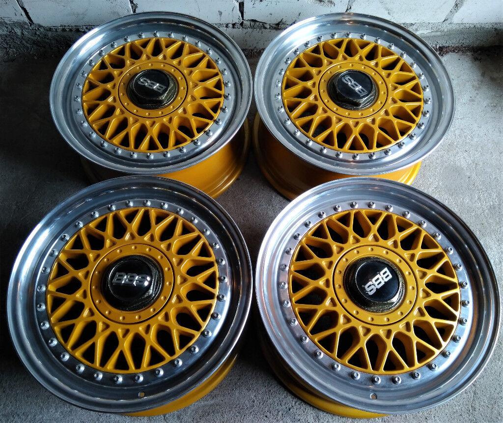 Genuine R15 Bbs Rm Wheels 2 Piece Splits Audi Vw Bmw Honda Mini And More 4x108 4x100 In