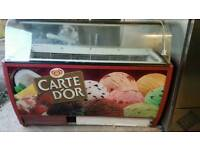 Commercial ice cream display freezer fully working with guaranty good condition