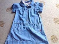 O'Kaidi girls short sleeve denim dress Age 8 years