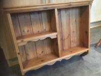 LOVELY WELL MADE SOLID PINE WALL UNIT - CAN DELIVER