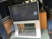 Panasonic tv on a attached stand