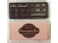 Too Faced chocolate bar eye shadow palette with box