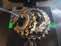 Campagnolo 10speed 12-25 cassette with lock ring