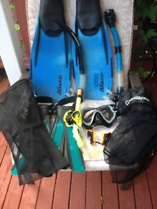 Fins,Snorkels and Goggles