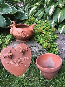 Three Clay Garden Decor
