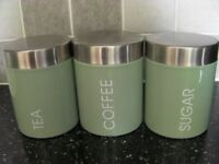 Tea, Coffee, Sugar Canister Set