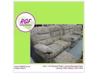 SALE NOW ON!! Lovely Suite- 2 Sofas, Reclining Armchair & Footstool With Storage- Can Deliver