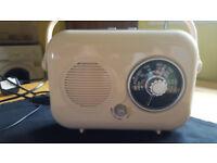 Gorgeous cream retro style radio by RED, £12
