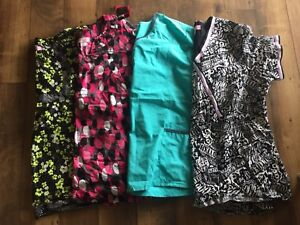 Scrub Tops, Plus Size 3x, many are new