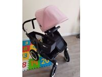 Bugaboo Donkey DUO v1.1 BLACK/BLACK , great condition, New 5 Point Harness