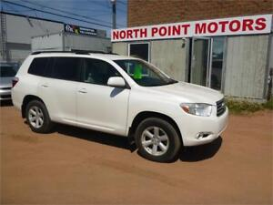 ONE OWNER Pearl White 2008 Toyota Highlander 7 Passenger Awd SR5