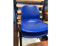 Plastic Blue Stackable Chairs