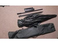 Nash Black Ops Recon Brolly/shelter with 1x side panel and mozzi throw (New) carp fishing
