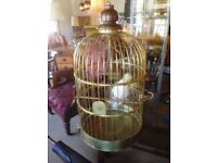 Large Edwardian brass birdcage