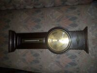 Superb Antique Oak Aneroid Banjo Barometer & Thermometer