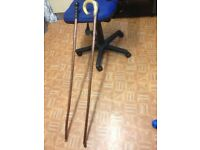 Handmade walking sticks