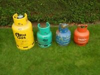 Calor Gas and Flogas Gas Cylinders with regulators. FULL.
