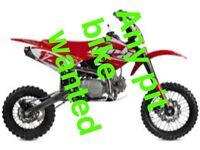 Pit bike or mini moto wanted